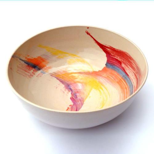 Tableware by niho Ceramics seen at Creator's Studio, Barcelona - Rainbow bowl
