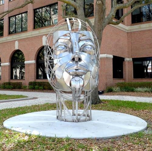 Public Sculptures by Donald Gialanella seen at Lemon Street Promenade, Lakeland - Gaia