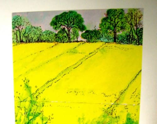 Paintings by Gerry Wilmer seen at Private Residence, Cambridge - The Yellow Field and Ashridge Estate