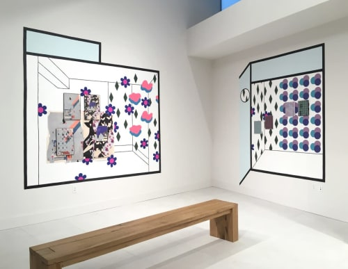 Murals by Michelle Weinberg seen at Bay Parc Apartments, Miami - Four Storefronts