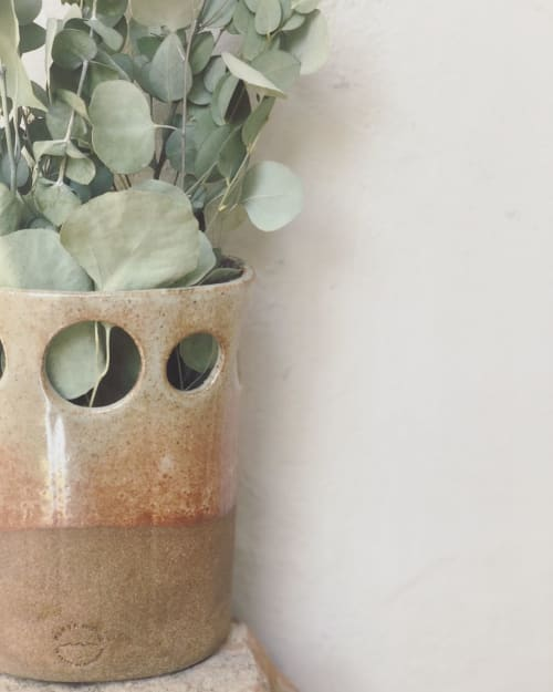 Vases & Vessels by Playa Ceramics seen at Private Residence, Los Angeles - Oval Vase