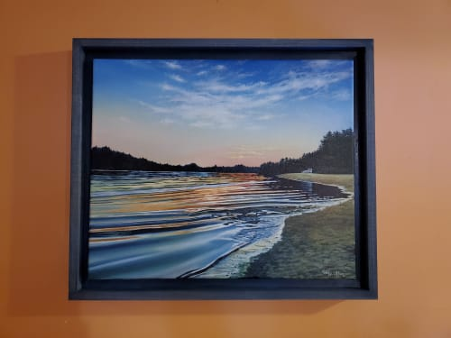 Paintings by Kelly Ufkin seen at Private Residence, New Gloucester - Range Pond Sunset