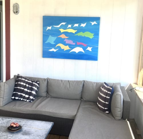Paintings by Julea Boswell Art Studio seen at Private Residence - Good Drying Conditiona