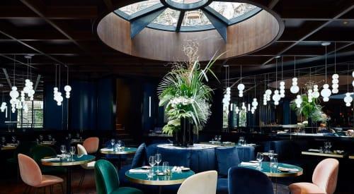 Pendants by FORMAGENDA | Benjamin Hopf seen at Le Roch Hotel & Spa, Paris - Pearls Suspension Lamp