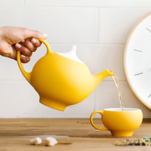 Tableware by Maia Ming Designs seen at Private Residence, Elk Grove Village - Kaya Teapot