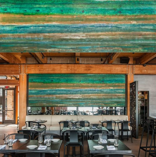 Wall Treatments by Kelly Walker seen at Ampersea, Baltimore - Ampersea Restaurant