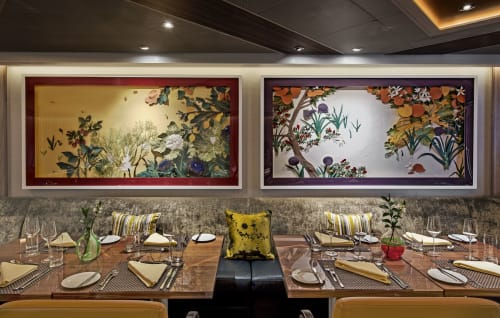 Wall Hangings by Maëlle Doliveux Illustration seen at Seabourn, Seattle - Pollinators: Hiems