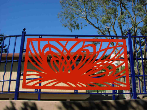 Public Sculptures by Deborah Kennedy seen at Sunnyside Playground, San Francisco - Solar Sight