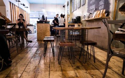 Chairs by KODA seen at Artisan Coffee School, London - Custom chairs