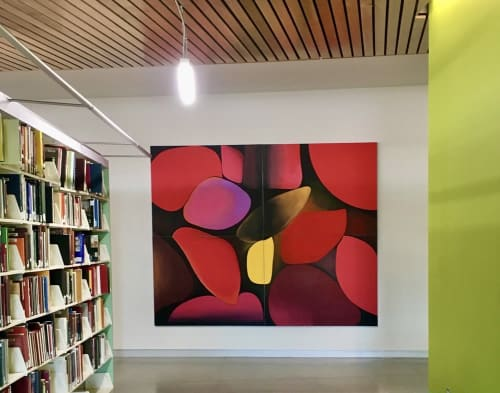 Paintings by Catherine Détraves seen at Charles Library, Philadelphia - Beneath The Surface