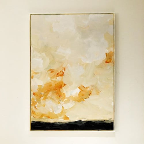 Paintings by Nino Yuniardi seen at Private Residence, Jakarta - New year puffy cloud