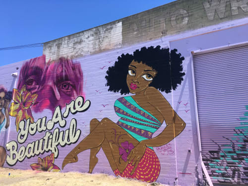 Murals by Ursula Xanthe Young seen at West Oakland, Oakland - You Are Beautiful