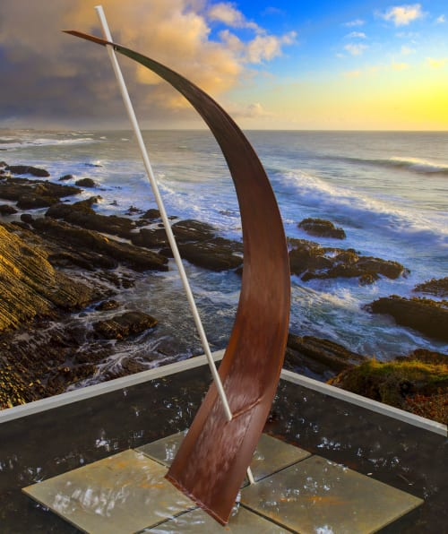 The Wave Modfountain | Public Sculptures by MODFOUNTAIN Modern Fountains for Modern Landscapes