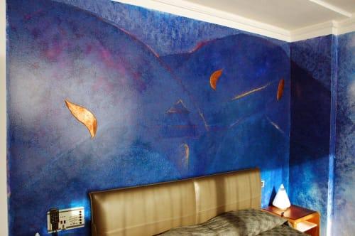 Spoleto Sunrise | Murals by LNozickArt/Design | Albornoz Palace Hotel Spoleto in Spoleto