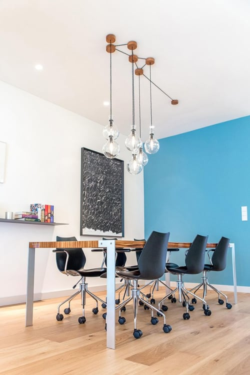 Lighting by Blom & Blom seen at Private Residence, Amsterdam - Laboratory glass installation