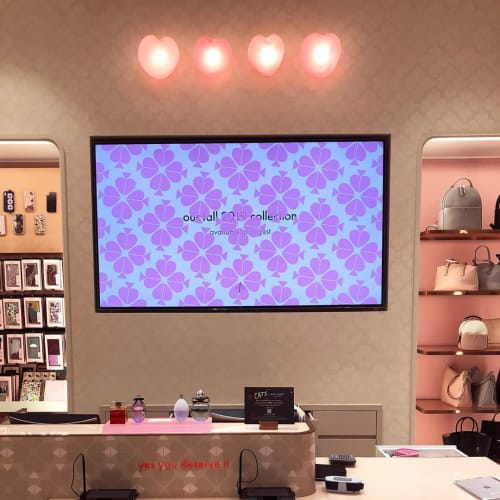 Lighting by Tightrope seen at Kate Spade, New York - Velveteen Hearts