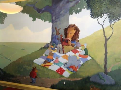 Murals by Scott Willis seen at The Harker School - Preschool Campus, San Jose - Harker Preschool Mural