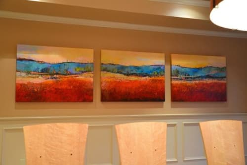 Paintings by Tracy Lynn Pristas seen at Private Residence, Denver - Epic Guardian Triptych