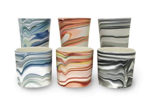 Tableware by Forest Ceramic Co. seen at Orcas Island Studio - Strata Series Tumblers
