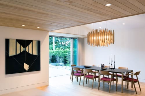 Chandeliers by Propellor Studio seen at Private Residence, Vancouver - Custom Orée Light