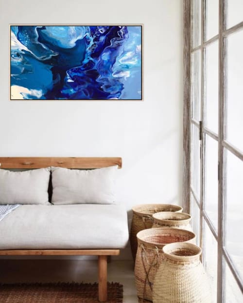 Paintings by Julia Dover Art seen at Private Residence, Sydney - INSPIED