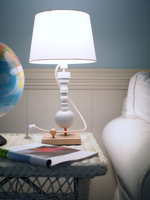 Lamps by Meg Morrison Design seen at Private Residence, Midlothian - Cord Wrapped Lamp