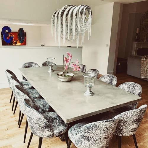 Tables by Kia Hanga seen at Private Residence - Concrete dining table