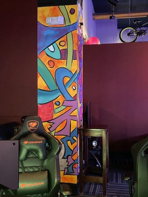 Murals by Kelly Anderson seen at Gameworks Mall of America, Bloomington - Gameworks Mural