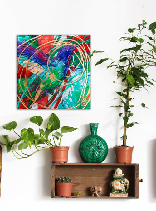 Wall Hangings by Art of Lisa Sofia seen at Private Residence, Seaside - Voyager on Golden Air