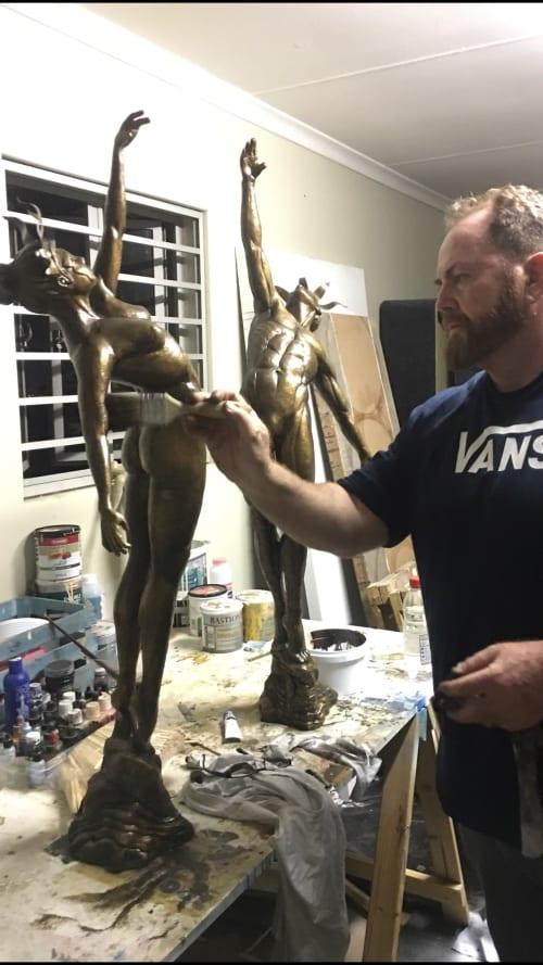 Sculptures by Hamish Herd Art seen at Harrogate, Harrogate - Jester Sculptures
