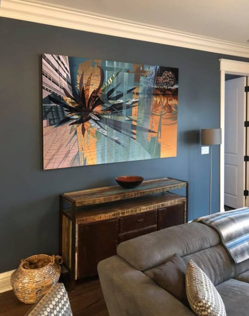 Paintings by Robert Porazinski seen at Private Residence, Chicago - Intersection