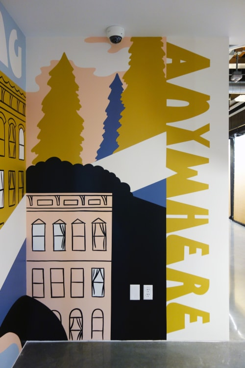 Murals by J&S Signs seen at Portland, Portland - Airbnb Mural