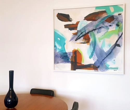 Paintings by Kirsty Black seen at Private Residence, Wellington - Burgeon