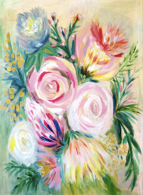Paintings by Hope Bainbridge Art seen at Private Residence, Sonora - Joy Blooms