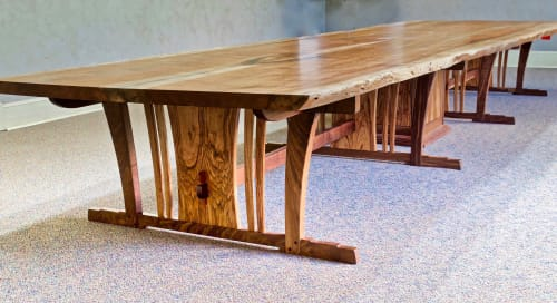 20 Foot Conference Table In Texas Pecan And Walnut By Louis Fry Furniture Maker Seen At Orange Orange Wescover