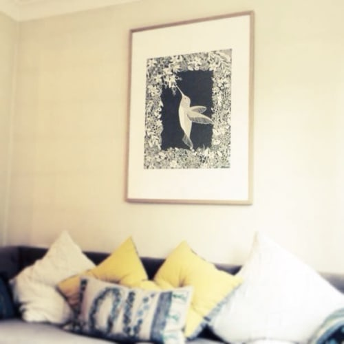 Art & Wall Decor by Georgia Low seen at Private Residence - Hummingbird Paper Cut Art