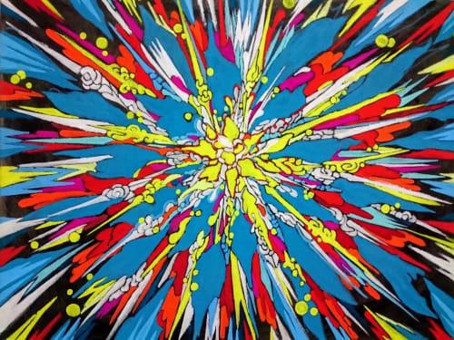 Paintings by Touko Mizuki seen at 6 Avenue Delcassé, Paris - For effect