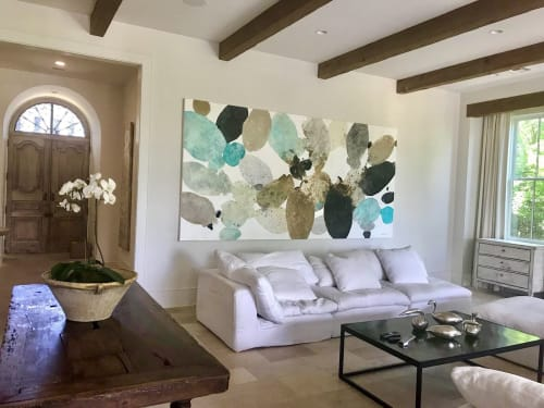 Paintings by Meredith Pardue seen at Private Residence, New Orleans - Tides of the Seven Seas II