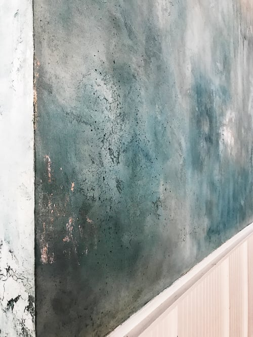Wall Treatments by EMILY POPE HARRIS ART seen at The Skinny Dip: Charleston Edition, Charleston - Decorative Plaster Wall