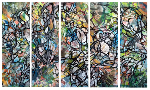 Paintings by Renee DeCarlo seen at The Midway, San Francisco - Manifest Destiny