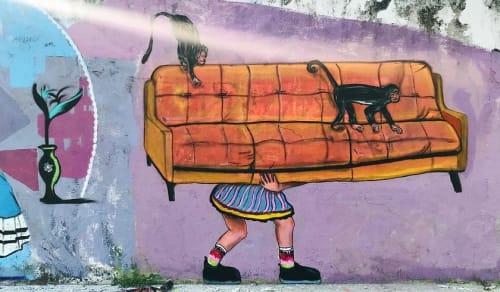 Street Murals by Emmanuel Montero seen at Puerto Vallarta, Puerto Vallarta - Street Art