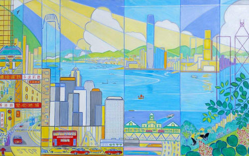 Paintings by John Lester seen at Private Residence - Hong Kong, Forever Upwards