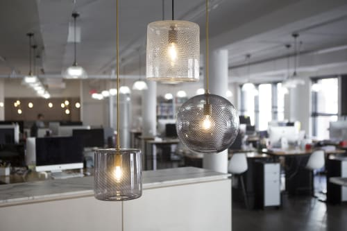 Pendants by KEEP seen at Bandujo Advertising + Design, New York - CANE Pendant Light Trio