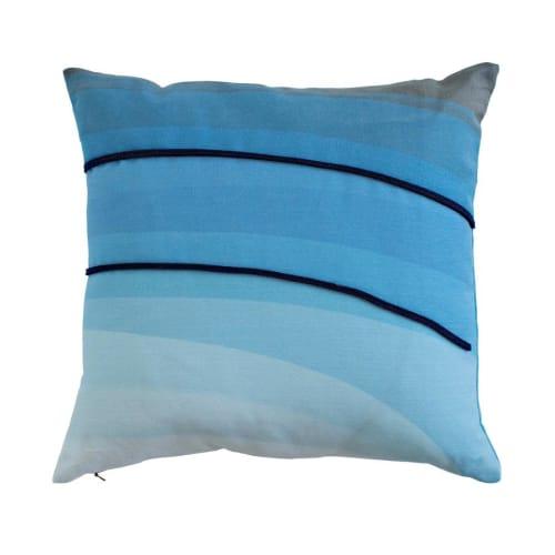 Pillows by Jill Malek Wallpaper - Melt Pillow   Blues