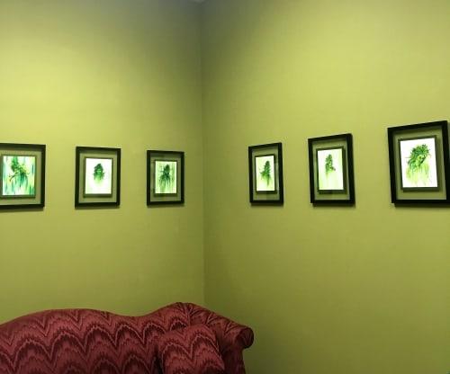 Paintings by Annie Kyla Bennett Art seen at Hemp Magik, Asheville - LadyBuds and Organic Flowers hemp art decor