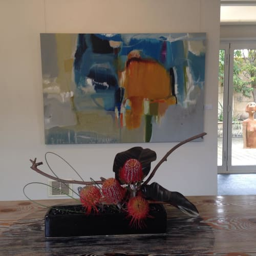 Paintings by Rob Forlani seen at Private Residence, Perth - 'Snow Flame'