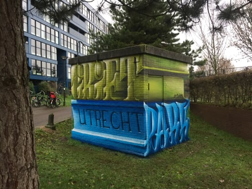 Street Murals by JanIsDeMan seen at Griftpark, Utrecht - Griftpark Hokjes