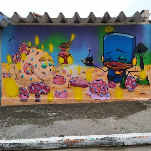 Ignoto graffiti - Street Murals and Public Art