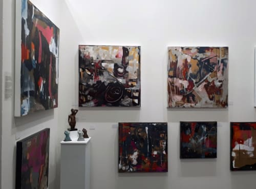 Paintings by Joyce Fournier seen at Magic Box LA, Los Angeles - Abstract Expressionist Paintings