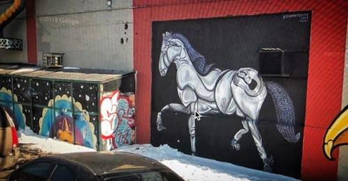 Murals by Garabato arte seen at Brooklyn, Brooklyn - mural